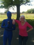 Evansville, Indiana Blue Man!
